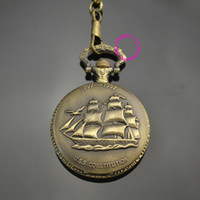 analog casual shorts - classic men gift Sailing quartz boat ship pocket watch with short waist chain hour low price good quality retro vine father