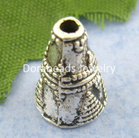 Wholesale Antique Silver Cone Cap End Beads mm B01089