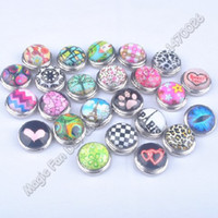 Wholesale wholesales newest hot mix color Sale Snaps Jewelry Button For DIY Bracelet Necklace Charms Snaps Charms