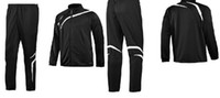 Wholesale Drop ship Men s Tracksuits men s coats soccer wears sport jackets mix Red black and blue color
