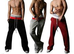 Wholesale-2015 Men's Casual baggy sportswear Training Harem Trousers Slacks sweat pants track sports pants big size