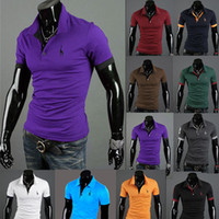 Wholesale Hot New Summer Deer men Fashion Short Sleeve plus size POLO Shirts men s wear Fawn Embroidery Casual Cotton Blouses Tees