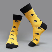 huf hats - autumn winters cotton fun hat mustache knitting men high socks