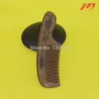 Cheap Wholesale-Popular Antistatic Plant carved THICKENING Old Peach wooden combs wedding makeup hairdressing tool WOOD hair brush hairbrush