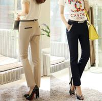 Cheap Wholesale-Quality Women's Pants Plus Size Casual Long Trousers for Office Ladies business Work Khaki Color Harem Pants Suit Trousers
