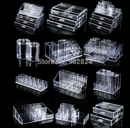 Wholesale High Quality Cosmetic Organizer Makeup Drawers Display Box Acrylic Clear Cabinet Cases Set RA56