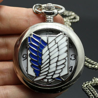 antique japanese jewelry - New Arrival Cosplay Japanese Anime Scouting Legion Survey Corps Jewelry Pocket Watch P430