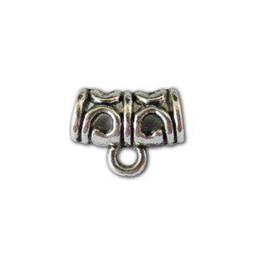 500pcs Tibetan silver color metal tube bail connectors A10546