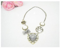 Wholesale Necklace Rose bowknot pearl heart shaped Necklace China Jewelry Fashion Jewelry Mix Order