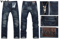 black jeans - New Arrival Spring Cotton Men Jeans Slim Fit Brand Denim Straight Leg with Gray Blue and Black