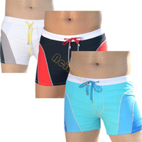 Wholesale New Male Swimming Trunks Low Waist Boxer Swimming Trunks Swimwear Men s Short Light Fashion Design Male Swimwear SV0037