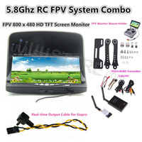 antenna videos - RC FPV Combo Boscam Ghz mw video audio Transmitter Receiver HD Monitor For CCTV Gopro hero3 hero4 SJ4000 DJI Phantom
