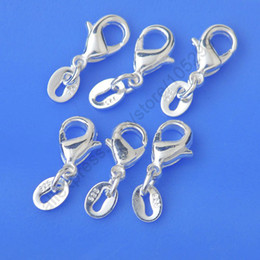 Wholesale Jewelry Findings Genuine Real Pure Sterling Silver Lobster Clasp Jump Rings Tag Fittings Connector Components Bulk