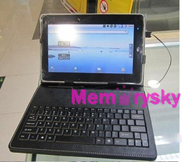Wholesale 7 inch Keyboard cases USB USB Mirco Connect for all Andorid inch tablet pc A23 Q88 Sanei Ainol Netbook
