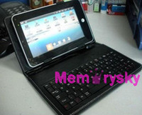 android coffee - 7 Colors inch Leather Case USB Keyboard Bracket for ePad inch Android Tablet PC