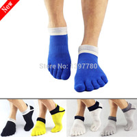 cotton five toe socks - New men s socks brand men sport sock mens cycling five toe fingers ankle cotton calcetines hombre calze uomo meias