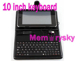Wholesale 10 Inch or Inch Leather Case USB Keyboard Bracket for Apad Android Tablet PC Netbook