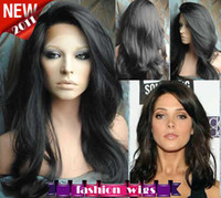 Wholesale Celebrity Hairstyle Beautiful quot quot Body Wave B Heat Friendly Swiss Lace Front Wigs CHS084