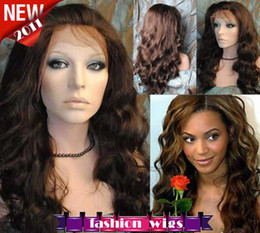 Wholesale 2011 New Celebrity Hairstyle Gorgeous quot Body Wave Heat Friendly Syntheti Lace Front Wigs CHS094