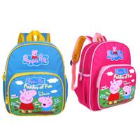 Cheap Wholesale-2015 new arrival cartoon peppa george pig waterproof pre-school bag backpack for children girl pepa kindergarten school bag