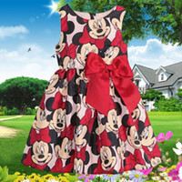 Cheap Wholesale-Hot sale 2015 new baby girls kids minnie Mouse princess dress casual girls dot TUTU dresses child's clothes