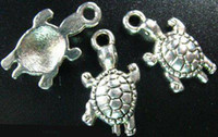 Asian & East Indian asian crafts - 200pcs Tibetan silver crafted turtle charms A303