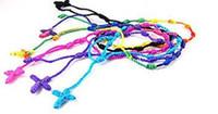 Cheap Wholesale-wholesales 24pcs Mix color Hand Made Knotted Rosary Bracelets - Pulseras Decenarios