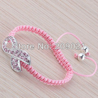 Cheap adjustable bracelets Best crystal ribbon