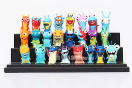 Wholesale-24 Pieces   set Slugterra Toys Slug Terra Action Figures Anime Dolls Gift for Children