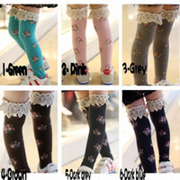 kids leg warmer - EMS DHL Toddlers Baby girls Kids Princess lace Ruffles Mid Length Cute Cherty Socks Leg Warmer Leggings