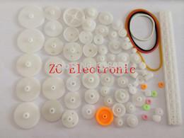 Wholesale a Plastic gear rack pulley belt Worm gear Single and double gear teeth for arduino diy kit