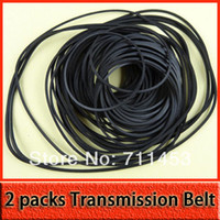 belt driven pulley - packs Black Rubber Drive Pulley Transmission Belt DIY Toy Accessories Parts including Different Sizes