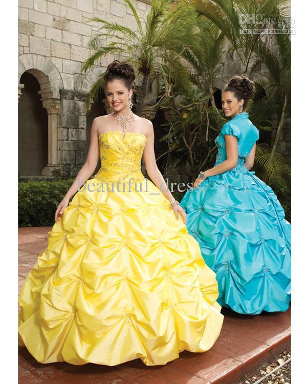 Wedding Dresses Blue And Yellow - Wedding Short Dresses
