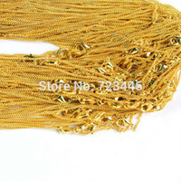 Cheap Wholesale-201# Gold Plated Metal Lobster Clasp Chains Charm Accessories Jewelry Findings Fashion Jewelry 50pcs lot