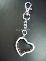 Cheap heart rhinestone Best charms keychain