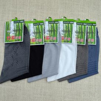 Cheap Wholesale-6 pair = 12 pieces 2015 mens men's male brands casual summer bamboo fiber Super Thin black white dress socks sox socs for men