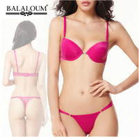 Cheap Wholesale-Brand New Noble Glossy Satin Intimates Women Bra Set,Sexy Lace Embroidery Push Up Bra and Panty Thong Set BS251