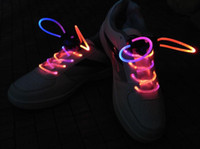 Wholesale 20 pairs colors LED Shoe LACES LED Light Up Shoelaces Glow Stick Neon by HongKong Post