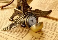 al por mayor tren de cuarzo reloj de bolsillo-Punk Steampunk reloj de bolsillo al por mayor Nueva manera de la vendimia del bronce del cuarzo del tren del vapor del collar pendiente de la cadena del reloj