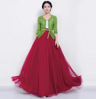 Wholesale The New Women Summer Fashion Wild Korean Women Chiffon Waist gauze Sashes Ball Gown skirts long skirt QT00151