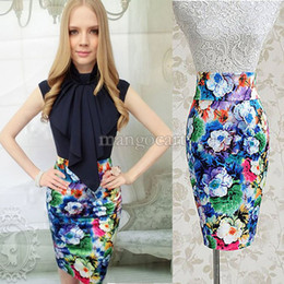 High Waisted Floral Pencil Skirt Online | High Waisted Floral ...