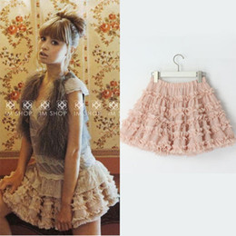 Wholesale As Seen in Magazine Super Beautiful Rhinestone Chiffon Skirts Female Puff Skirt with Ruffles
