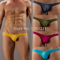 Cheap Wholesale-Sexy NEW Men's Briefs Mesh Hole Thongs Shorts Low Rise G-string Underwear S M L Free shipping and Drop shipping