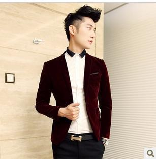 Wholesale-Fashion Casual Blazer Velvet Men's Clothing Suit Fashion ...