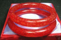 Wholesale Rare Asian pair of rare Chinese blood jade bracelets Bangle Bracelets
