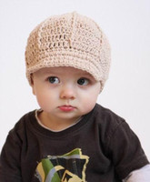 Crochet baby caps 0- 8Y children' s sixflold hats 18pcs l...