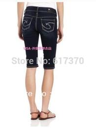 Wholesale-Original Fashion Women Silver Suki Jeans Bermuda Short Mid Rise