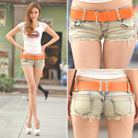 low rise jeans - Direct Selling Summer Sexy Women s Denim Shorts Nightclub Low rise Flash Color Restoring Ancient Ways Stretch Tight Jeans
