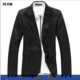 Wholesale- New High quality Mens casual Suits Blazers slim fit Jacket fashion Blazer Coat Button suit Business men Formal suit jacket