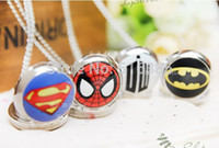 Wholesale Fashion silver girl unisex woman child DC Super Hero Batman superman Pocket Watch hour wholesalegood quality modern